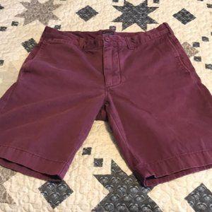 J. Crew Stanton Burgundy Shorts - Men's Size 31